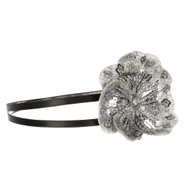 Wholesale L36E Sequins Flower Double Headband Black