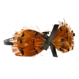 Wholesale L36E Bow on Bow Feather Headband BE/MT