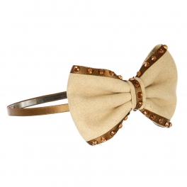 Wholesale L36E Suede Bow Headband Beige