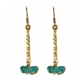 Wholesale M13D Faux Stone Beads Earrings GB