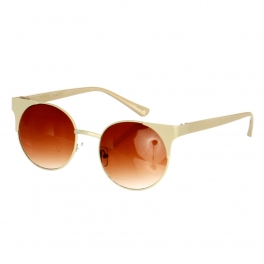 Wholesale L14 Slim Top Round Sunglasses Dozen