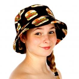Wholesale V34 City Hunter Food Sublimated Bucket Hat BLACK