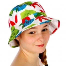 Wholesale V34 Neon Rose Sublimated Bucket Hat WHITE