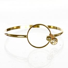Wholesale L06E Hook On Rhinestone Bracelet GD