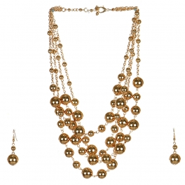 Wholesale M17D Ball Chain Necklace Set G