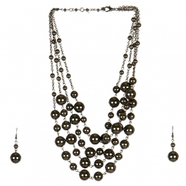 Wholesale M17D Ball Chain Necklace Set HEM