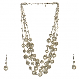 Wholesale M17D Ball Chain Necklace Set SB