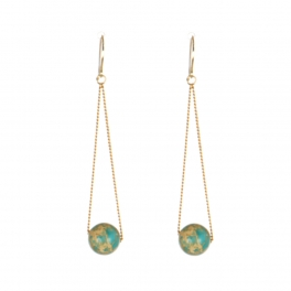 Wholesale M17D Faux Stone Dangle Earring GD