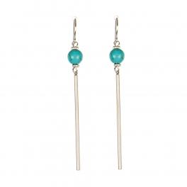 Wholesale M08C Faux Stone Bar Drop Earring SV