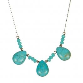 Wholesale M06A Faux Stone Tear Drop Necklace SV