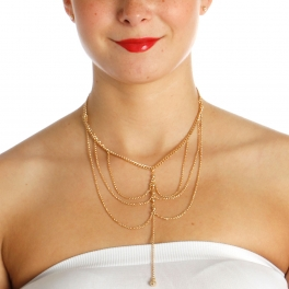 Wholesale N42B Chain Layered Necklace GOLD