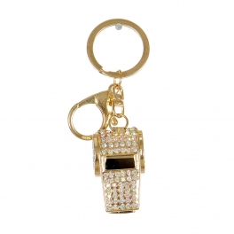 Wholesale L32D Rhinestone Whistle Keychain GD