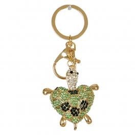 Wholesale M10B Studded Sea Turtle Keychain GD