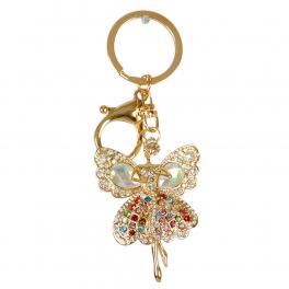 Wholesale M00B Colorful Rhinestone Lady Keychain GD