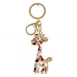 Wholesale M10B Colorful Rhinestone Giraffe Keychain GD