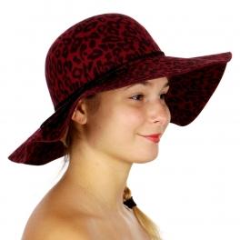 Wholesale W13C Animal Print Floppy Hat BY