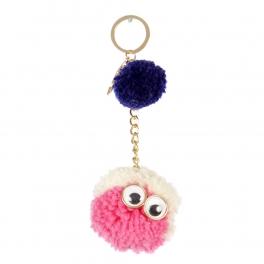 Wholesale I34A Mr. Fluff Ball w/ Eyes Keychain GMT