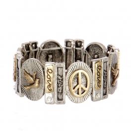 Wholesale L21A Love Hope Peach Bracelet SBRG