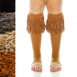 Wholesale R71A Western fringed long leg warmers assorted colors dozen