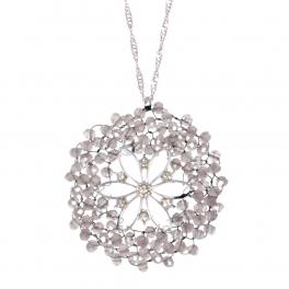Wholesale WA00 Beads Wreath Necklace W/ Rhinestone Ggr