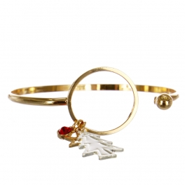 Wholesale WA00 Star & Christmas tree charms bracelet GD