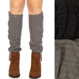 Wholesale R17BX00 Zippered leg warmers Dozen