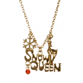 Wholesale M04B SNOW QUEEN Christmas pendant necklace GD