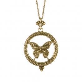 Wholesale L01C Elegant butterfly pendant necklace GB