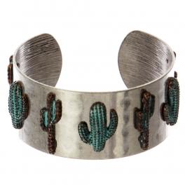 Wholesale WA00 Cacti metal statement cuff bracelet SB/OG