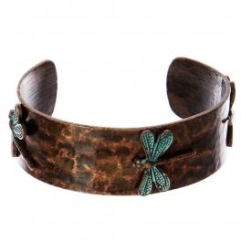 Wholesale WA00 Three dragonflies metal statement cuff bracelet OG