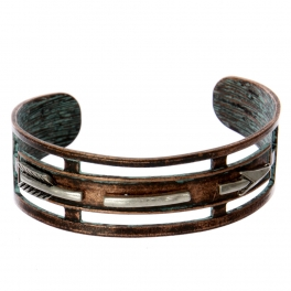 Wholesale WA00 Long arrow cutout metal statement cuff bracelet OG/SB