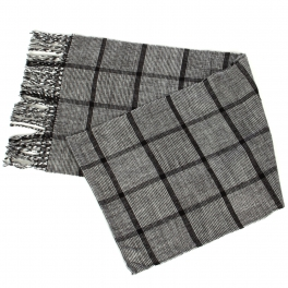 {[en]:Wholesale P30A Checkered pattern cashmere feel scarf