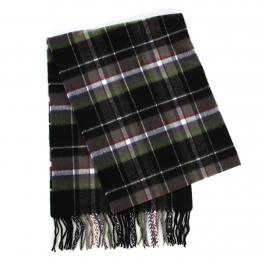 wholesale O61B Plaid cashmere feel scarf BL/GN fashionunic