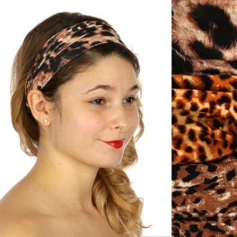 Wholesale M04D Animal print headband  Dozen