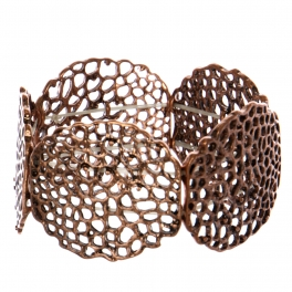 Wholesale WA00 Abstract holes cutout stretchable bracelet COP