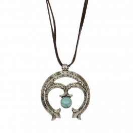 Wholesale M28B Abstract carving pedant necklace w/ stone SB