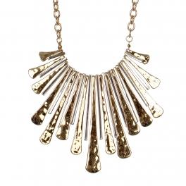Wholesale M28B Tribal long bars statement necklace set GD.SV