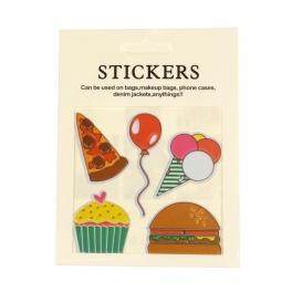 Wholesale WA00 Pizza PU sticker set for clothes & accessories