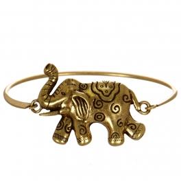 Wholesale WA00 Elephant clasp bangle bracelet GB
