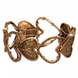 Wholesale WA00 Hearts metal stretch bracelet RGB