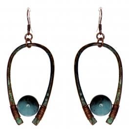 Wholesale WA00 Horseshoe & stone earrings OG