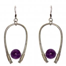 Wholesale WA00 Horseshoe & stone earrings SB