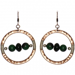 Wholesale WA00 Stone & coil ring earrings CB