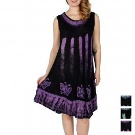 Wholesale K38E Butterfly embroidery batik umbrella dress
