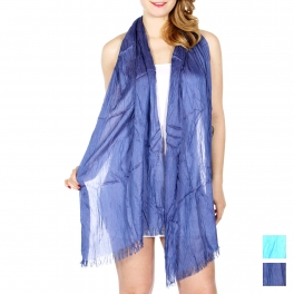 Wholesale H35C Crinkle solid scarf BL