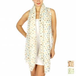 Wholesale BX00 Multicolored polka dot print scarf BL
