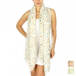 Wholesale BX00 Multicolored polka dot print scarf BL