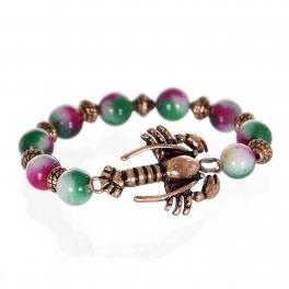 Wholesale WA00 Lobster w/ color stone charm bracelet CB