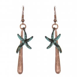 Wholesale WA00 Dancing starfish earrings MCOP.OG