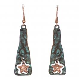 Wholesale WA00 Metallic anchor dangling earrings OG.CB